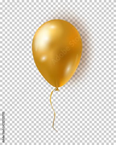 Fotomural  Vector glossy golden balloon