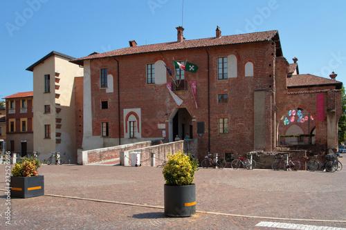Photo castello visconteo ad abbiategrasso in italia, visconti castle in abbiategrasso