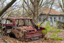 Abandoned Car In Chernobyl Exc...
