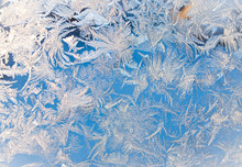 Art By Frost, Christmas Window In A Cold Winter Day