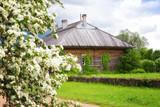 View of Trigorskoye estate in spring, Pskov, Russia