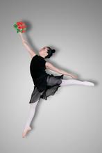 Graceful Ballerina Is Dancing ...