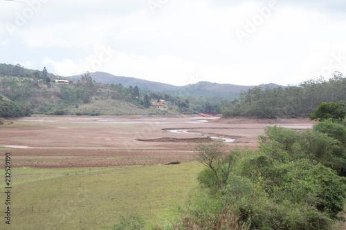 Fotobehang Wit view of landscape