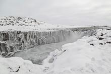 Selfoss Waterfall In Winter