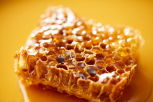 Close-up Of Sweet Honeycomb On...