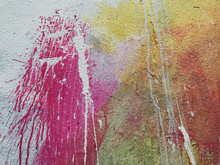 Splattered Graffiti Paint On W...