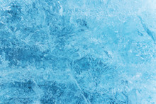 Blue Ice Texture, Winter Background, Texture Of Ice Surface.