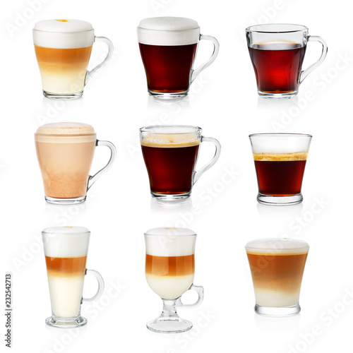 Foto auf AluDibond Kaffee Set of different types of coffee