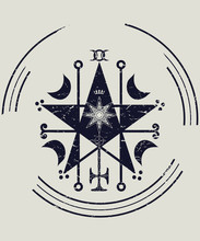 Ceremonial Magic Sigil With A ...