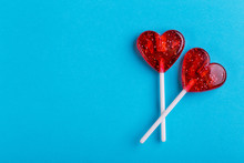 Two Red Sweet Tasty Lollipops ...