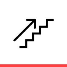 Upstairs Icon, Vector Illustra...
