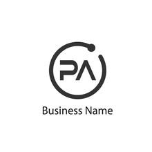Initial Letter Pa Logo Templat...