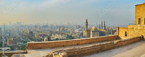 Fotomural Panorama of Cairo from the Saladin Citadel's wall, Egypt