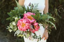 A Gorgeous Bridal Bouquet With...