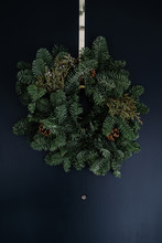 Christmas Wreath Hanging On Ch...