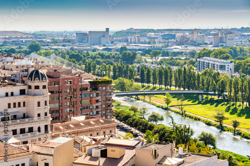 Partial view of the city of Lleida. Catalonia Spain
