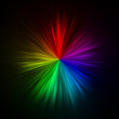 canvas print picture Star shaped full spectrum rainbow