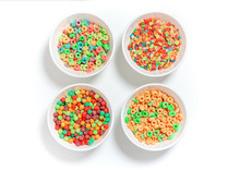 Bowls Of Different Colorful Ce...