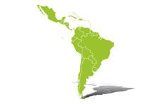 Silueta Verde De Latinoamérica.