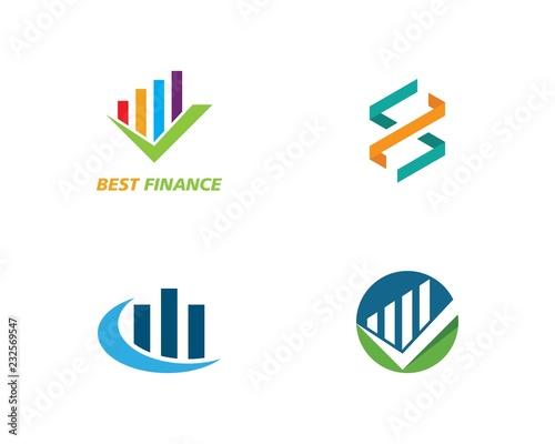 Fotografie, Obraz  Business Finance professional logo template