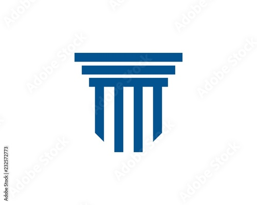 Pillar Logo Template. Column Vector Design Canvas Print