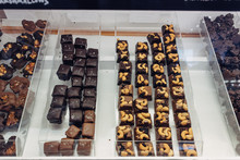 Various Chocolate In A Shop Di...