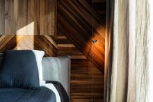 Cozy Bedroom In Contemporary I...