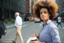 Thoughtful Young Woman Walking