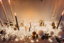 Christmas Decoration Of Candle...