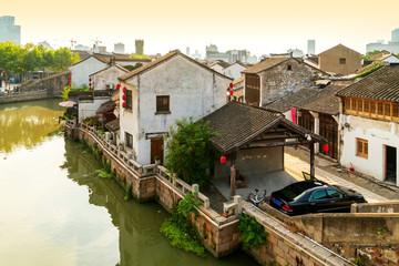 Fototapeta na wymiar Historic scenic old town Wuzhen, China
