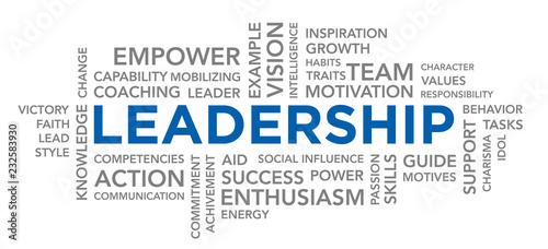 Fényképezés  Leadership Text Word Cloud