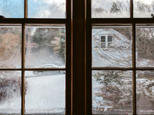 Snowy Day From A Window