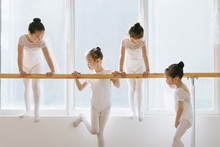 Girls Relaxing In Ballet Studio