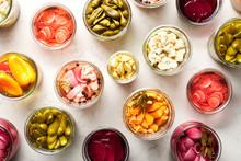 Colorful Pickled Vegetables On...