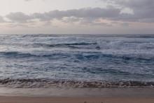 Beautiful Ocean Waves Hitting Hawaii Shore