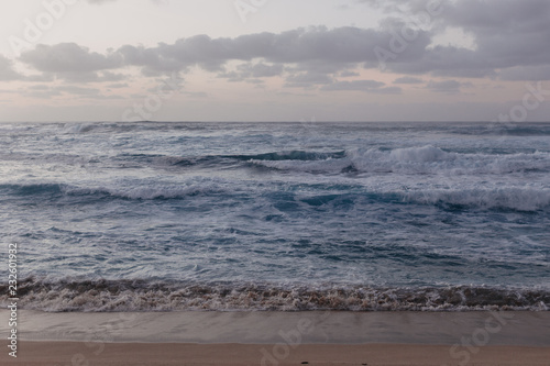 Beautiful Ocean Waves Hitting Hawaii Shore