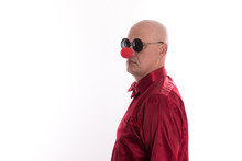 Holiday Red Nose ,portrait Of ...