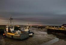 Fishing Boats At Night. Branca...