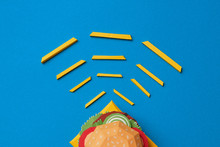 Paper Craft Burger With French Fries
