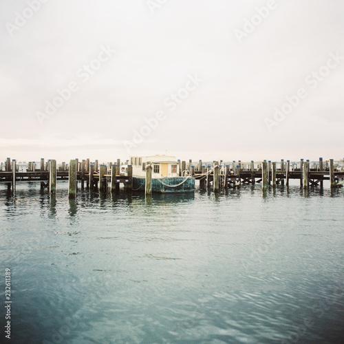 Solitary boat, Nantucket Harbor