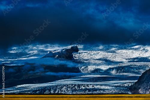 Fotografie, Obraz  ghiacciaio e laguna di ghiaccio fjallsarlon skaftafell