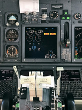 Interior Airplane Cockpit Control Panel