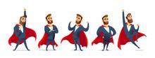 Businessman In A Superhero Cos...