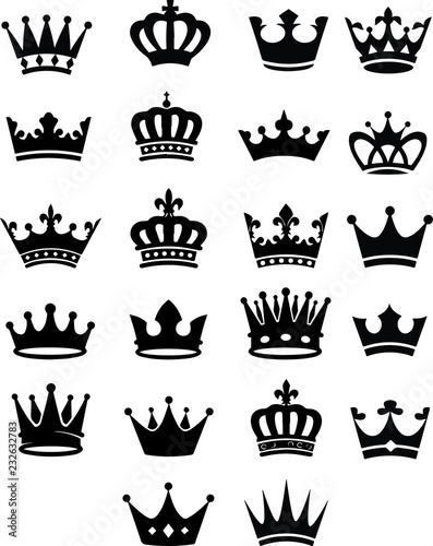 Fototapeta Crowns for Kings,Queens ,Prince Knight & Royal Cases