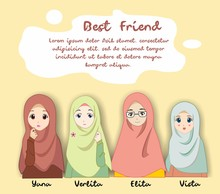 Vector Of Muslimah Women For F...