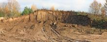 Broken Excavated Earth Planet Concept.