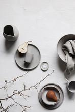 Still Life Of Handmade Ceramics
