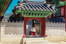 Seoul Palace With Sitting Woma...