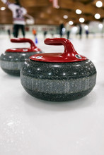 Curling: Red Team Stones Wait ...