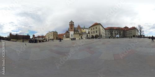 Fototapeta Krakow in Poland 360 degree sphere panoramic photos obraz